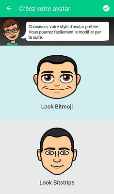Bitmoji étape 5