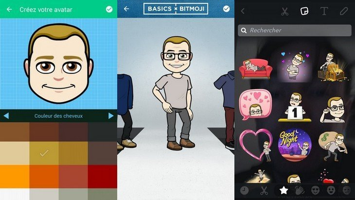 astuce comment cr er un bitmoji pour snapchat geek junior. Black Bedroom Furniture Sets. Home Design Ideas