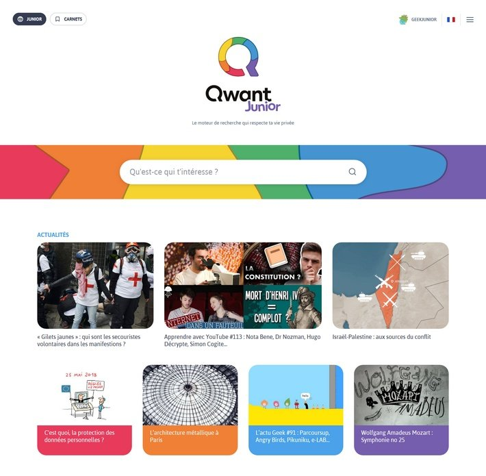 qwant junior screenshot