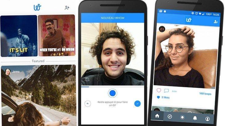 Whom, l'appli pour créer tes GIF et les partager sur Instagram, Facebook, Twitter…