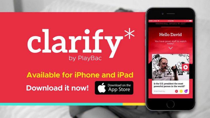 Clarify (iPhone, iPad) : l'info en vidéo et en anglais pour les kids
