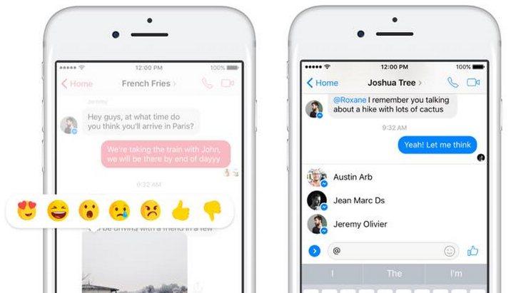 Facebook Messenger ajoute les réactions