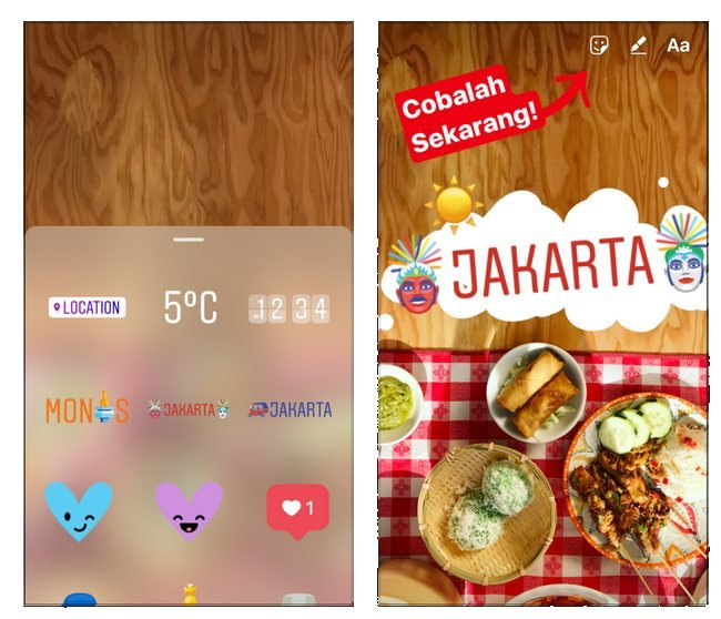 instagram stories jakarta stickers