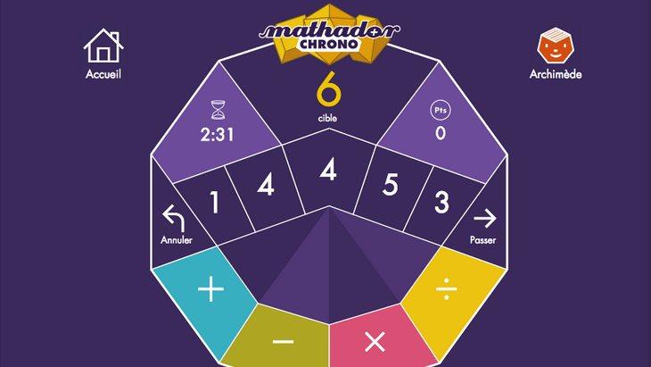 Mathador Chrono et Solo : deux applis pour s'exercer au calcul mental