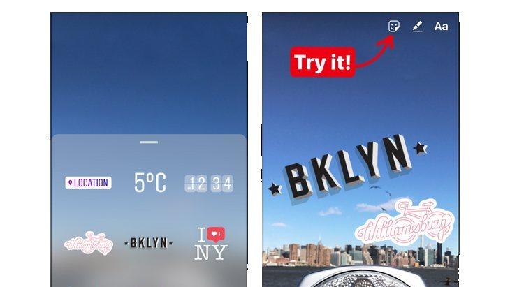Instagram ajoute des autocollants géolocalisés, comme Snapchat…