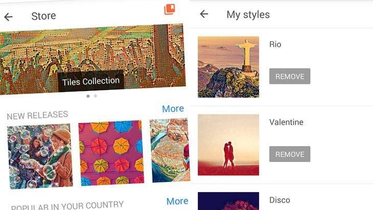 Prisma : une mise à jour intègre une boutique de filtres gratuits !