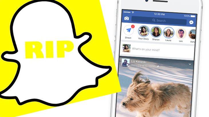 RIP Snapchat, Facebook t'a tout volé !