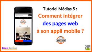 Tuto Médias Pages Web - Applis mobiles - Teen-Code