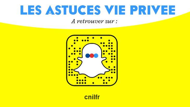 Un compte Snapchat te conseille pour protéger ta vie privée en ligne