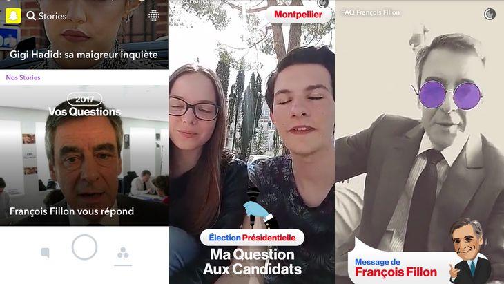 Présidentielle 2017 : les candidats interviewés sur Snapchat