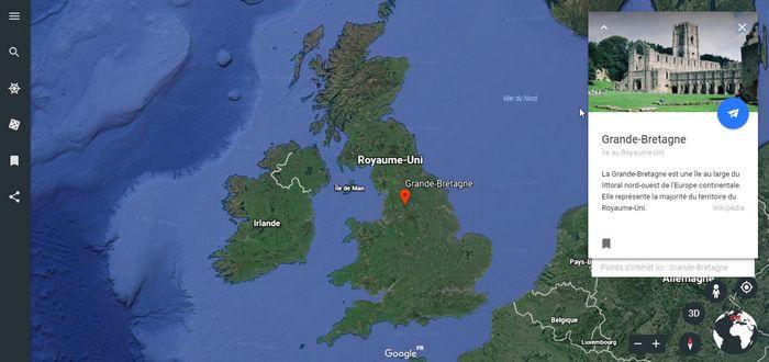 Google Earth Grande Bretagne