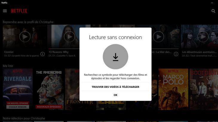 Netflix : tu peux enfin télécharger tes films et séries sous Windows 10