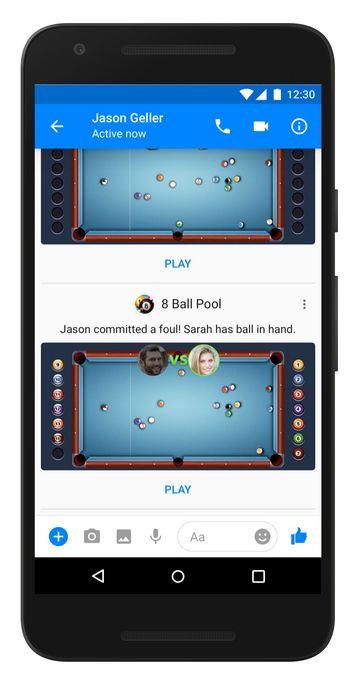 Games 8Ball Pool sur Facebook Messenger