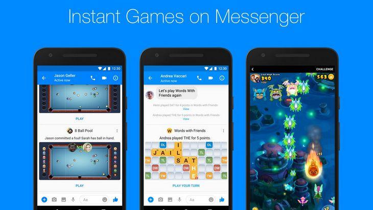 Avec Instant Games, Facebook Messenger lance une plateforme de jeux mobiles