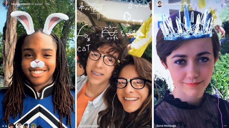 Instagram copie encore Snapchat avec ses «face filters»