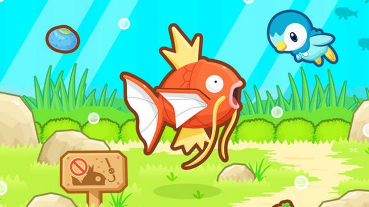 Le jeu mobile du jour : Pokémon Magicarpe Jump (App Store / Google Play)