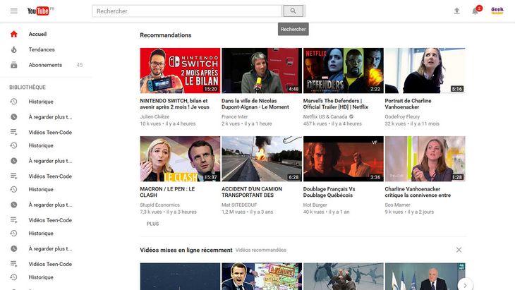 YouTube change de look avec un mode foncé en plus