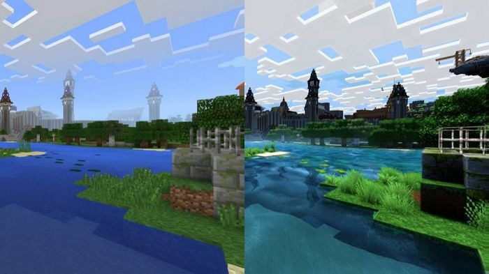 minecraft 4k comparaison original