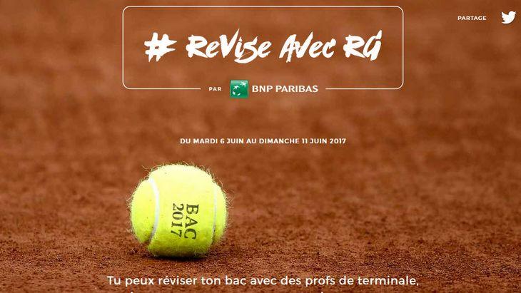 Comment réviser ton Bac sans rater Roland-Garros ? #RéviseAvecRG