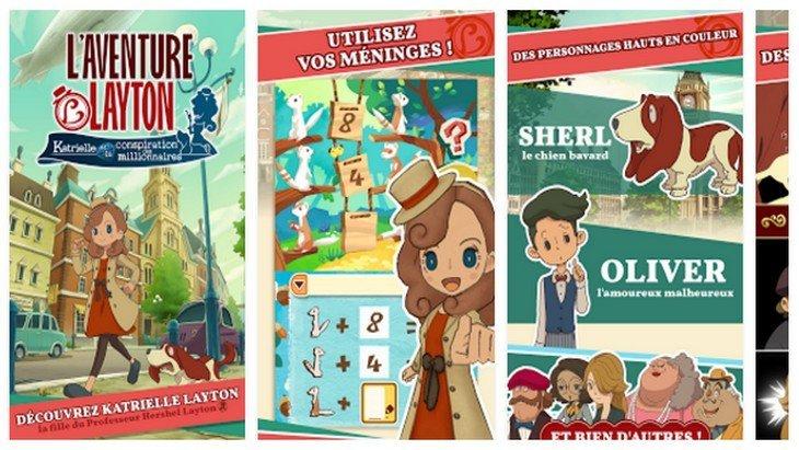 Le jeu mobile du jour : L'aventure Layton (App Store / Google Play)