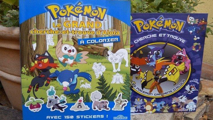 Pokémon : sortie de deux albums avec des stickers, des jeux et des coloriages