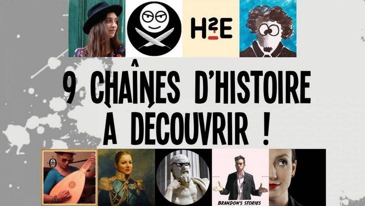 9 chaînes d'Histoire à découvrir sur YouTube (par Benjamin de Nota Bene) !