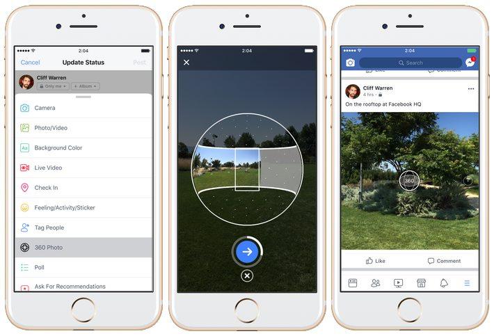 facebook 360 degrés