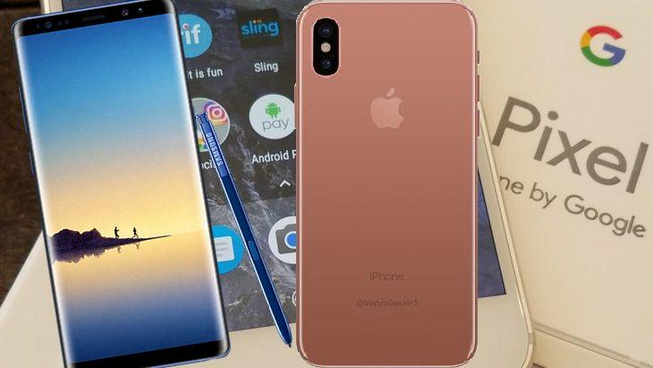 Galaxy Note 8, iPhone 8, Pixel 2 : les smartphones de la rentrée