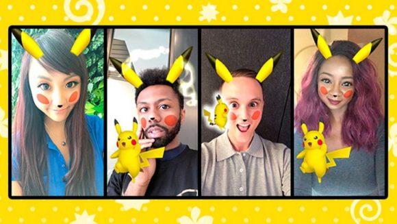 Un filtre Pikachu disponible dans Snapchat