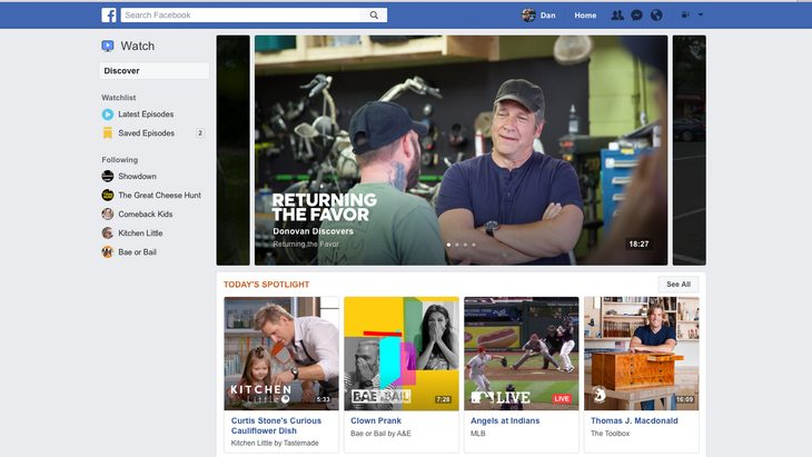 Facebook lance Watch, un service de vidéos originales