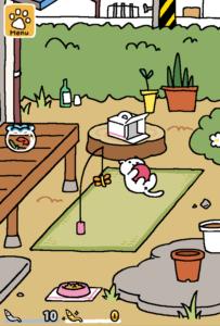 neko atsume playground jeux pour smartphone avec des chats
