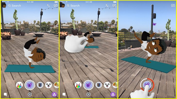 Snapchat : les Bitmoji prennent vie en 3D animée ! Voici comment faire