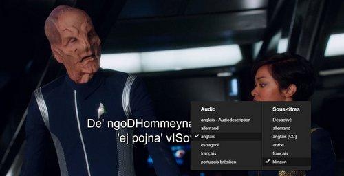 Star Trek Discovey sous-titrage en klingon
