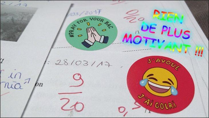 Quand un prof lance une gamme de stickers pour motiver les élèves !