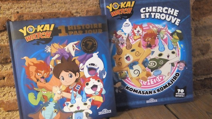 Yo-Kai Watch : des stickers et des histoires dans deux nouveaux livres