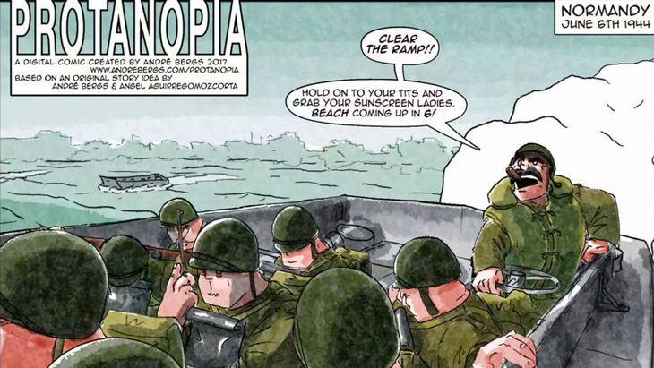 Protanopia, une incroyable BD numérique sur le Débarquement en Normandie (iOS, Android)