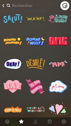 sticker francais snapchat exemple