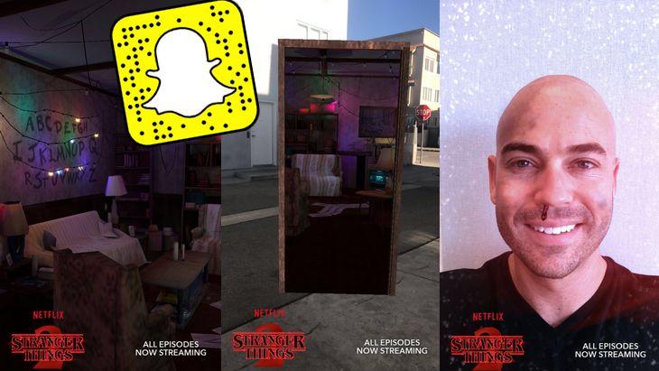La série The Stranger Things s'invite dans Snapchat !