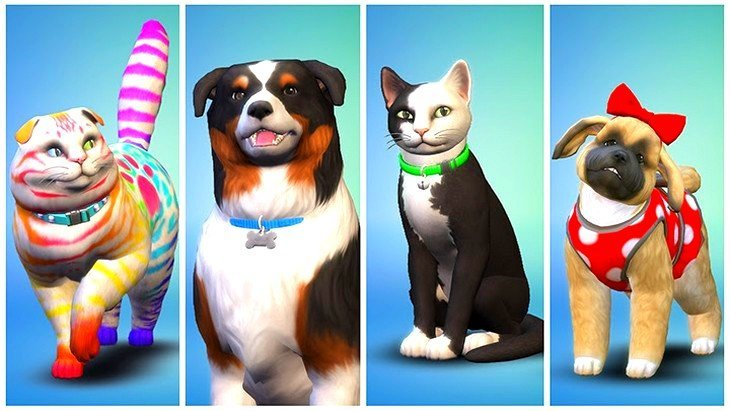 Chiens Chats SIMS 4