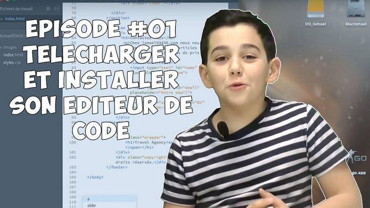 Apprendre à coder avec Ismaël #1 : télécharger son éditeur de code