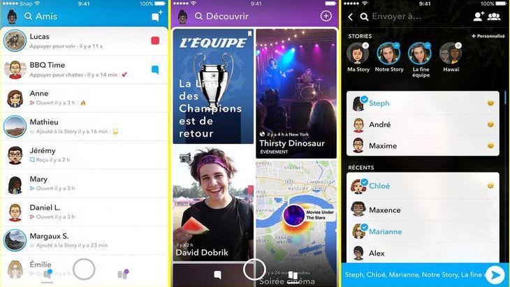 Voici le nouveau Snapchat. La mise à jour qui change tout (ou presque…)