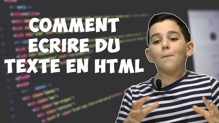 Apprendre à coder avec Ismaël #3 : apprendre à écrire du texte HTML