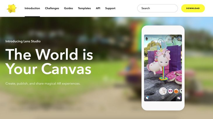 Snapchat lance Lens Studio pour créer tes propres filtres animés !
