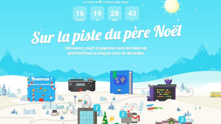 Google Santa Tracker de retour jusqu'à Noël