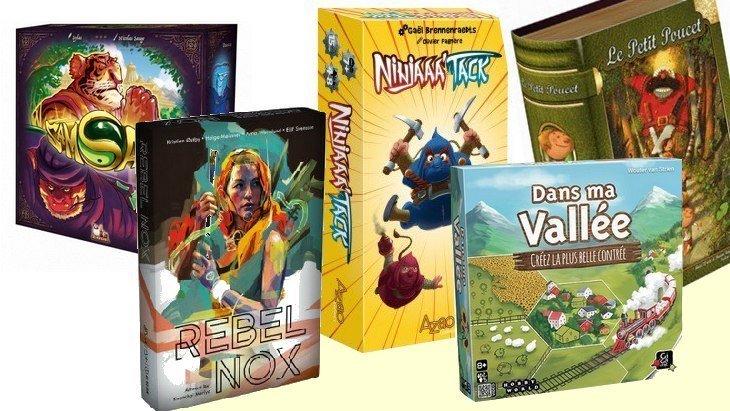 5 nouveaux jeux de société #6 : Rebel Nox, Ninjaaa'tack, Samsara, Dans ma Vallée…