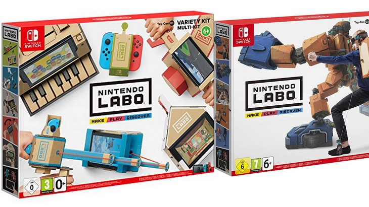 les kits nintendo labo d j en pr commande geek junior. Black Bedroom Furniture Sets. Home Design Ideas