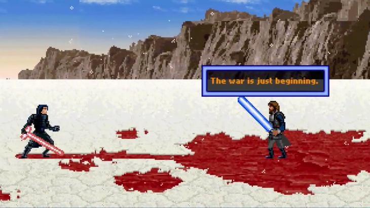 La scène finale de « Les Derniers Jedi » en 16 bits !