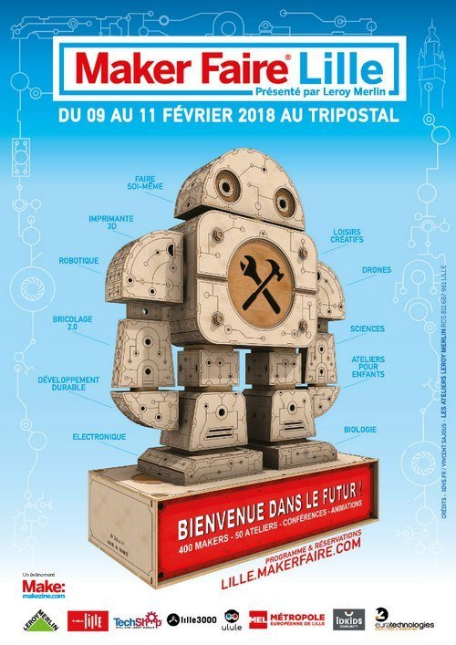 affiche maker faire lille 2018