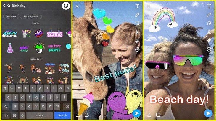 Snapchat intègre enfin les GIFs GIPHY et dévoile une nouvelle fonctionnalité : Tabs