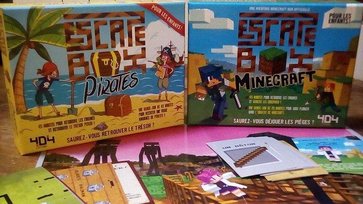 Escape Box Minecraft et Pirates : deux Escape Games pour les enfants !